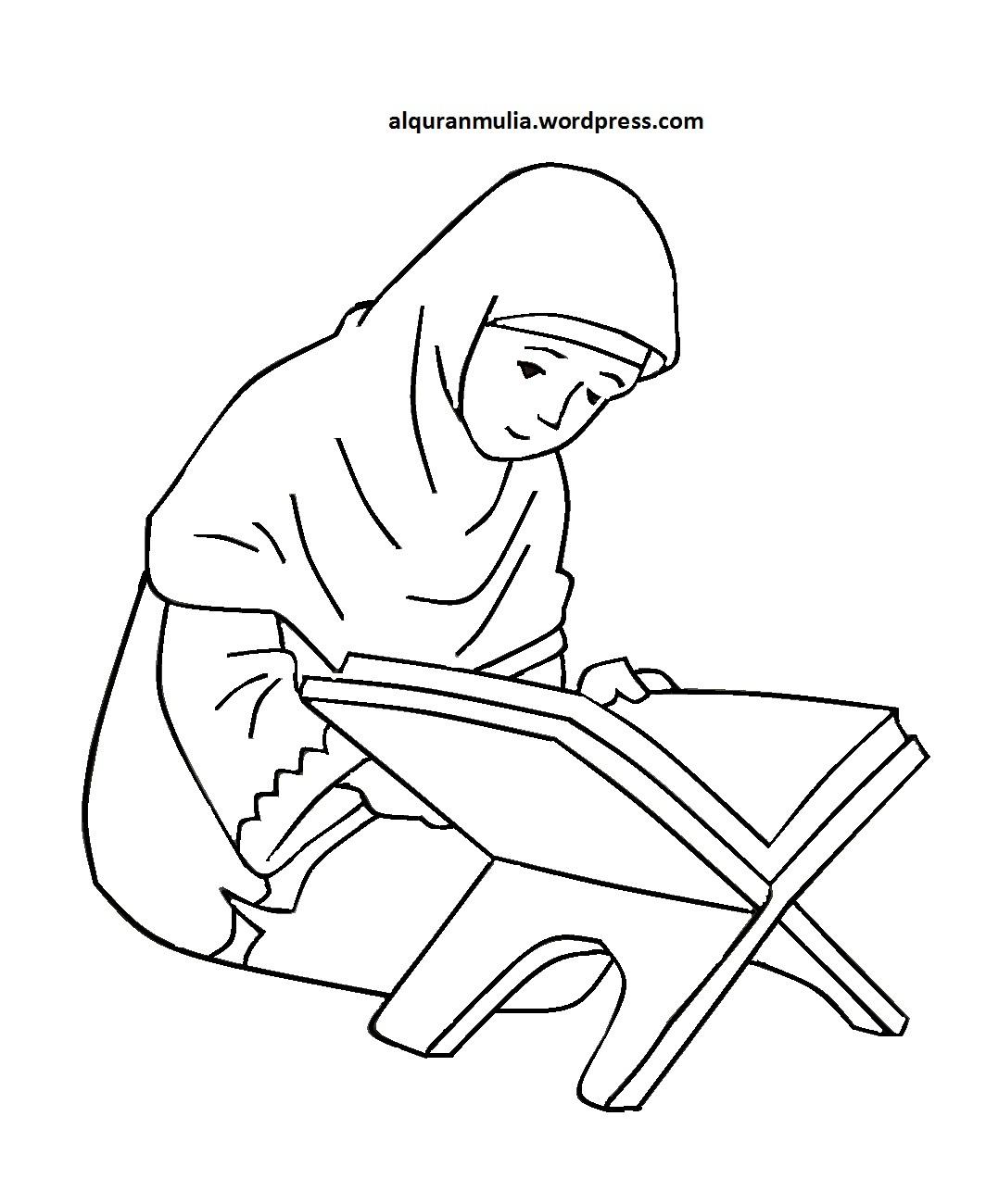 Mewarnai Gambar Kartun Anak Muslimah 85 Berita Investigasi